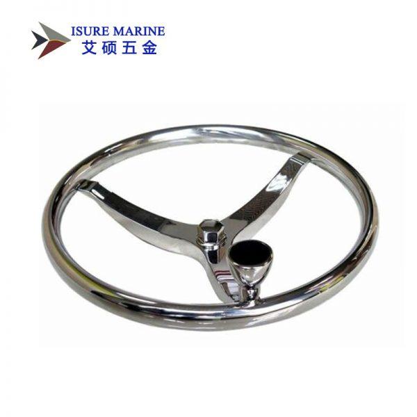 Stainless Steel Boat Steering Wheel