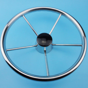 13.5 inch 5 Spoke New Stainless Steel Boat Steering Wheel