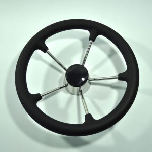 Boat Steering Wheel with Black PU