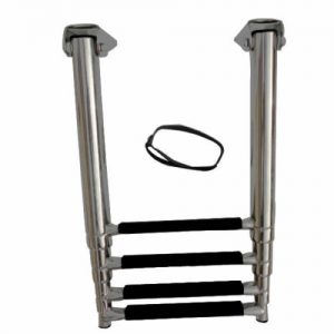 Stainless Steel 4 Step Telescoping Marine Boat Yacht Ladder